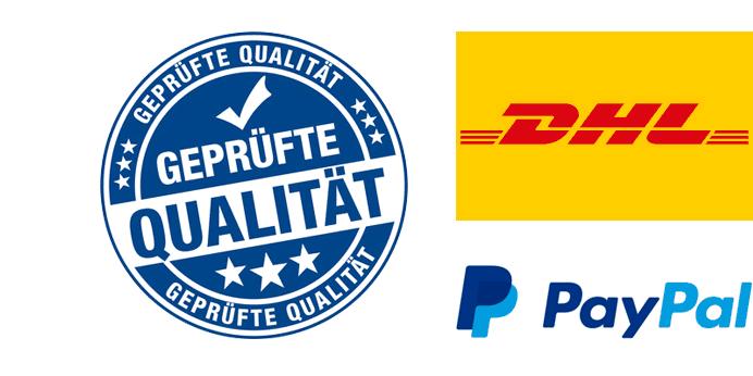Mac-Ankauf.de vertraut auf Top-Partner wie DHL und PayPal